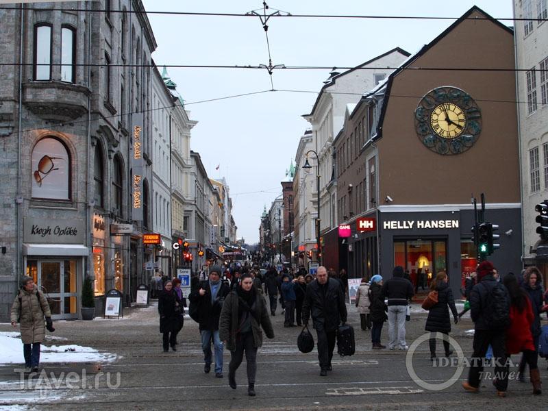 Улица Karl Johans gate в Осло / Фото из Норвегии