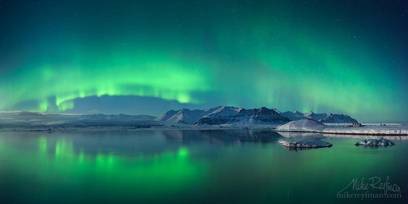 Северное сияние в Исландии / Фото из Исландии