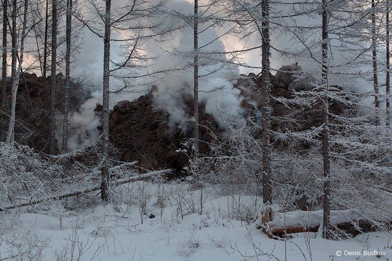 Фронт потока лавы / Фото из России