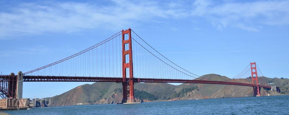 Через мост Golden Gate на велосипеде / Фото из США