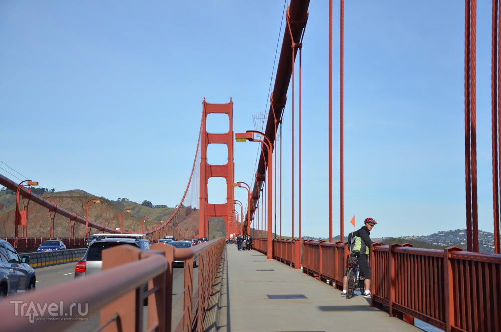 На мосту Golden Gate (Золотые Ворота) в Сан-Франциско / Фото из США