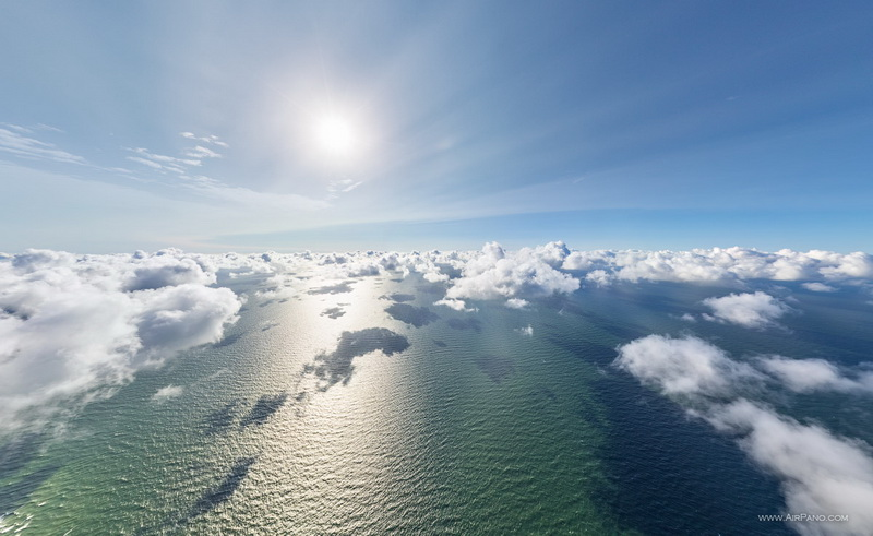 Облака над Балтийским морем / Фото из Литвы