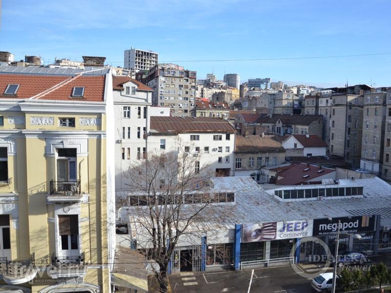 Вид из окна гостиницы Bristol / Сербия