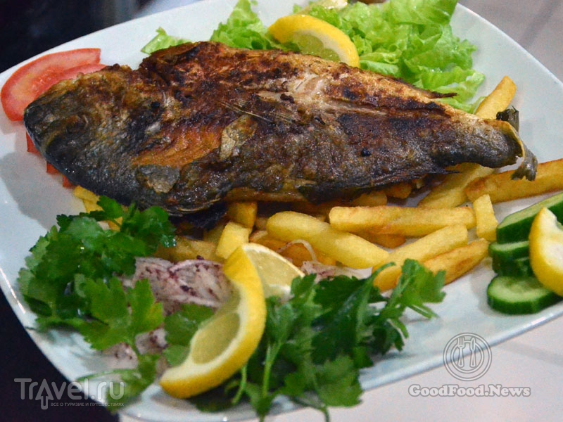 Рыба в кафе Gül Pide / Фото из Турции