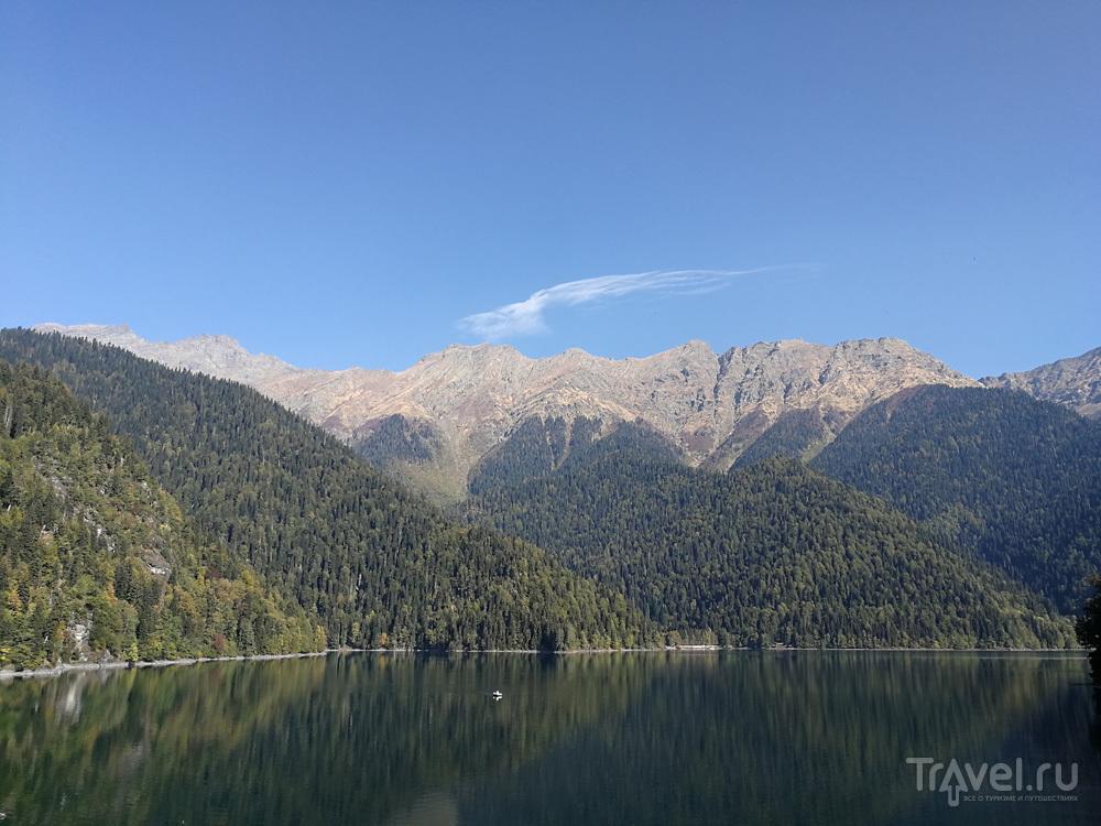 Озеро Рица в октябре